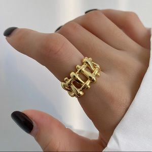 18k gold plated- sterling silver ring